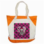 Princess Skull Heart Accent Tote Bag