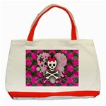 Princess Skull Heart Classic Tote Bag (Red)