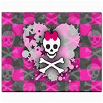Princess Skull Heart Canvas 8  x 10