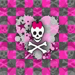 Princess Skull Heart Canvas 16  x 16