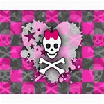 Princess Skull Heart Canvas 16  x 20