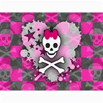 Princess Skull Heart Canvas 18  x 24