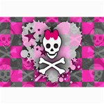 Princess Skull Heart Canvas 24  x 36