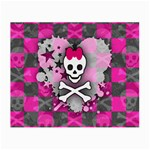 Princess Skull Heart Small Glasses Cloth (2 Sides)