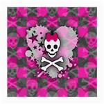 Princess Skull Heart Medium Glasses Cloth (2 Sides)
