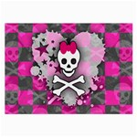 Princess Skull Heart Large Glasses Cloth (2 Sides)