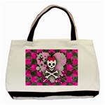 Princess Skull Heart Basic Tote Bag (Two Sides)