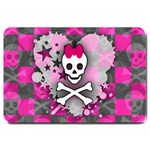 Princess Skull Heart Large Doormat