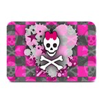 Princess Skull Heart Plate Mat