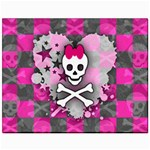 Princess Skull Heart Canvas 11  x 14