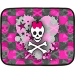 Princess Skull Heart Double Sided Fleece Blanket (Mini)