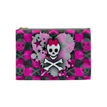 Princess Skull Heart Cosmetic Bag (Medium)