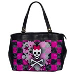 Princess Skull Heart Oversize Office Handbag