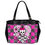 Princess Skull Heart Oversize Office Handbag (2 Sides)