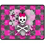Princess Skull Heart Fleece Blanket (Medium)