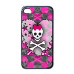 Princess Skull Heart iPhone 4 Case (Black)