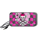 Princess Skull Heart Portable Speaker (Black)