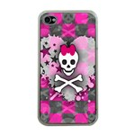 Princess Skull Heart iPhone 4 Case (Clear)