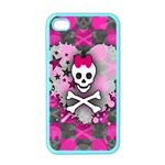 Princess Skull Heart iPhone 4 Case (Color)