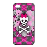 Princess Skull Heart iPhone 4/4s Seamless Case (Black)
