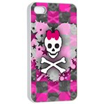 Princess Skull Heart iPhone 4/4s Seamless Case (White)