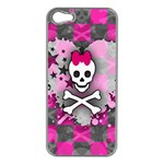 Princess Skull Heart iPhone 5 Case (Silver)