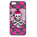 Princess Skull Heart iPhone 5 Seamless Case (Black)