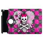 Princess Skull Heart Apple iPad 3/4 Flip 360 Case