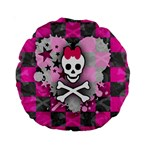Princess Skull Heart Standard 15  Premium Round Cushion
