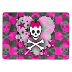 Princess Skull Heart Samsung Galaxy Tab 10.1  P7500 Flip Case
