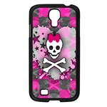 Princess Skull Heart Samsung Galaxy S4 I9500/ I9505 Case (Black)