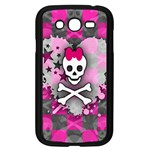 Princess Skull Heart Samsung Galaxy Grand DUOS I9082 Case (Black)