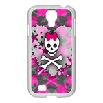 Princess Skull Heart Samsung GALAXY S4 I9500/ I9505 Case (White)