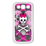 Princess Skull Heart Samsung Galaxy S3 Back Case (White)