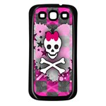 Princess Skull Heart Samsung Galaxy S3 Back Case (Black)