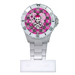 Princess Skull Heart Plastic Nurses Watch