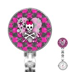 Princess Skull Heart Stainless Steel Nurses Watch