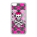 Princess Skull Heart iPhone 5C Seamless Case (White)