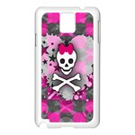 Princess Skull Heart Samsung Galaxy Note 3 N9005 Case (White)
