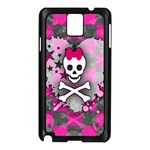 Princess Skull Heart Samsung Galaxy Note 3 N9005 Case (Black)