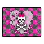 Princess Skull Heart Double Sided Fleece Blanket (Small)