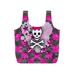 Princess Skull Heart Full Print Recycle Bag (S)