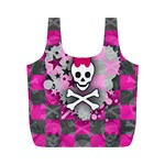 Princess Skull Heart Full Print Recycle Bag (M)