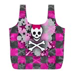 Princess Skull Heart Full Print Recycle Bag (L)