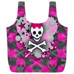 Princess Skull Heart Full Print Recycle Bag (XL)