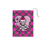 Princess Skull Heart Drawstring Pouch (Small)