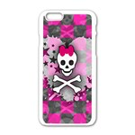 Princess Skull Heart iPhone 6/6S White Enamel Case