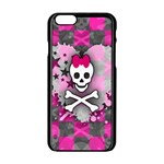 Princess Skull Heart iPhone 6/6S Black Enamel Case