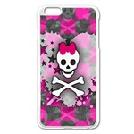 Princess Skull Heart iPhone 6 Plus/6S Plus Enamel White Case