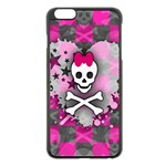 Princess Skull Heart iPhone 6 Plus/6S Plus Black Enamel Case